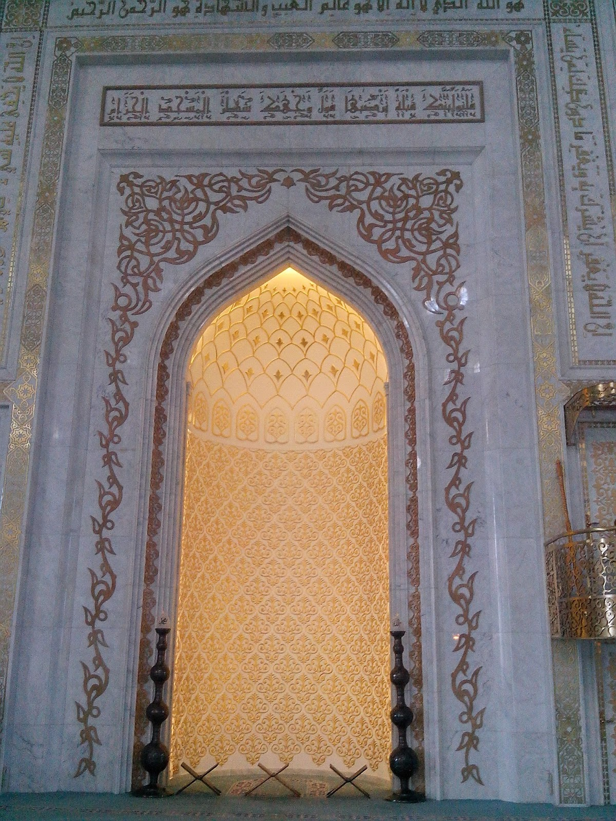 михраб в мечети Хазрет Султан Астана