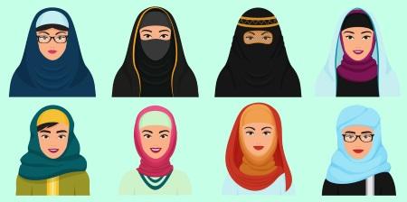 Женщины в хиджабе